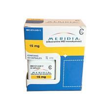 Meridia (Sibutramine) 15mg - 60 pills packaging